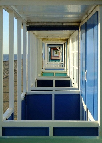 Beach hut perspective