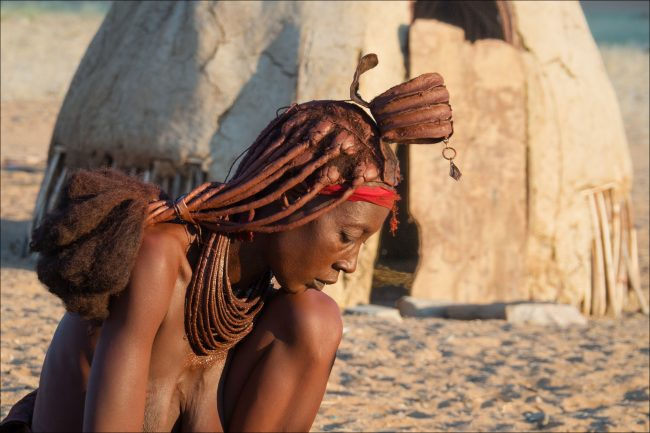 2nd Print Himba Woman by Ann Shaw