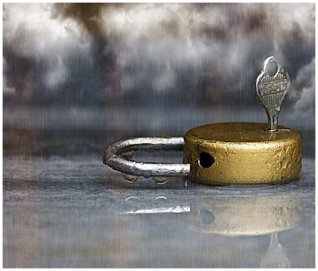 1st digital Lock & Key in the Rain by Roger Collect