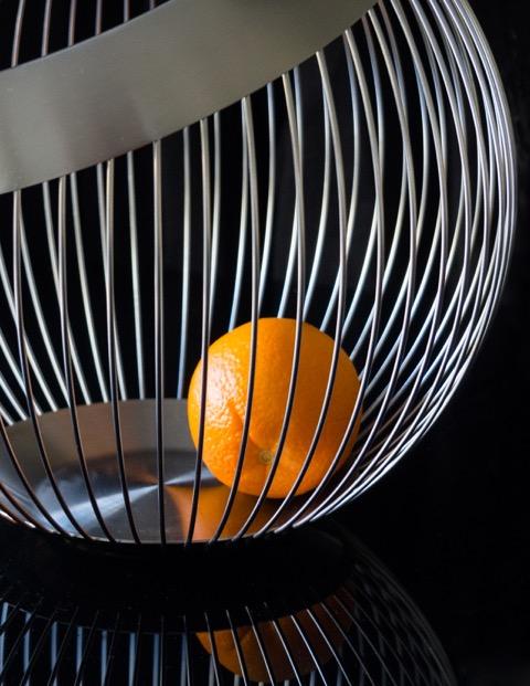 3rd print Caged Orange by Ann Shaw