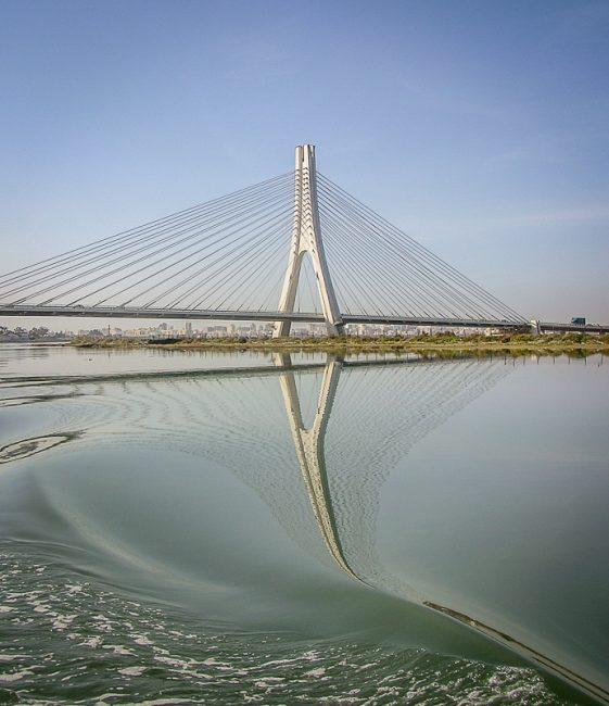 1st Digital Guadiana International Bridge by Derek Robbins
